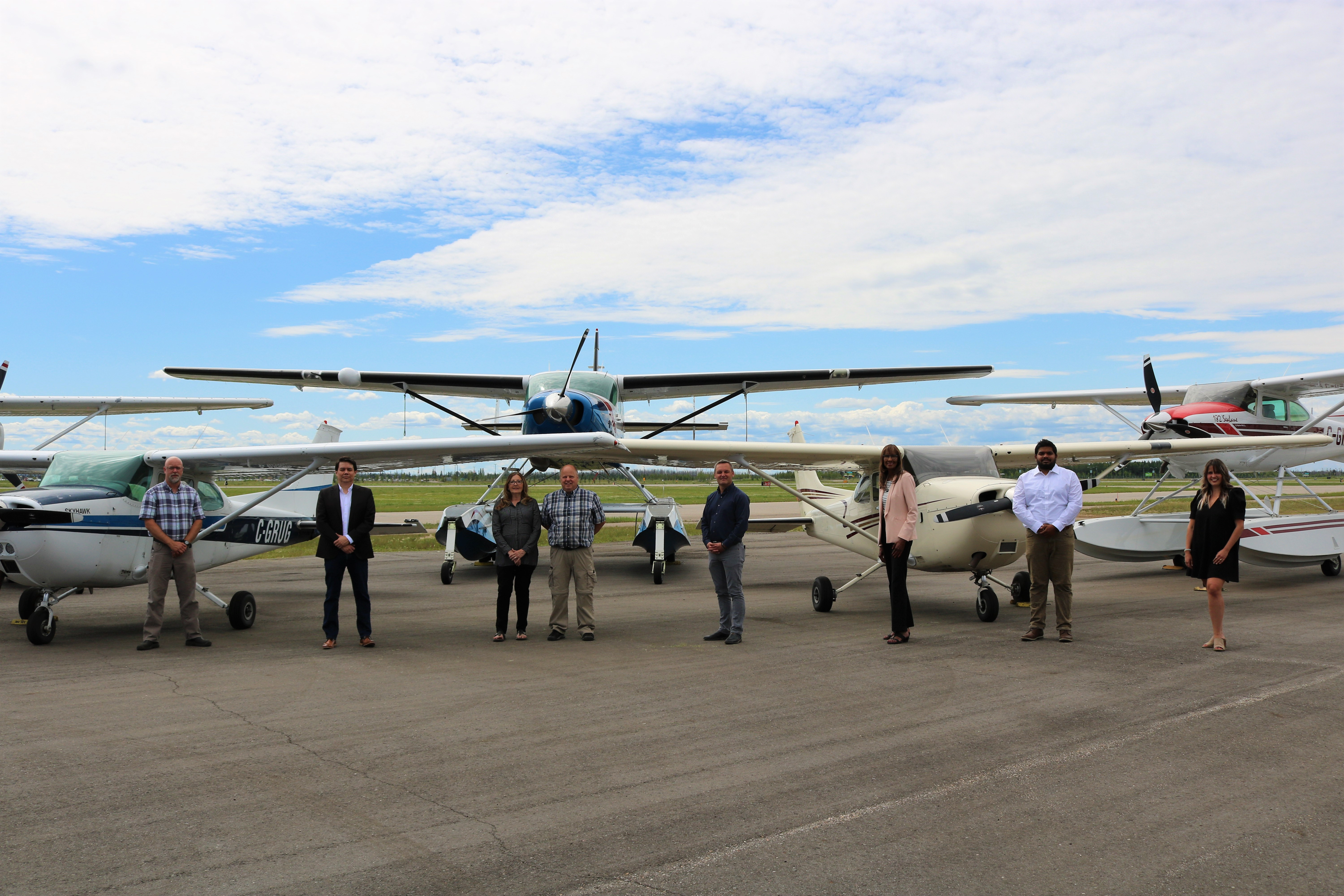 Business Aviation Diploma Signing