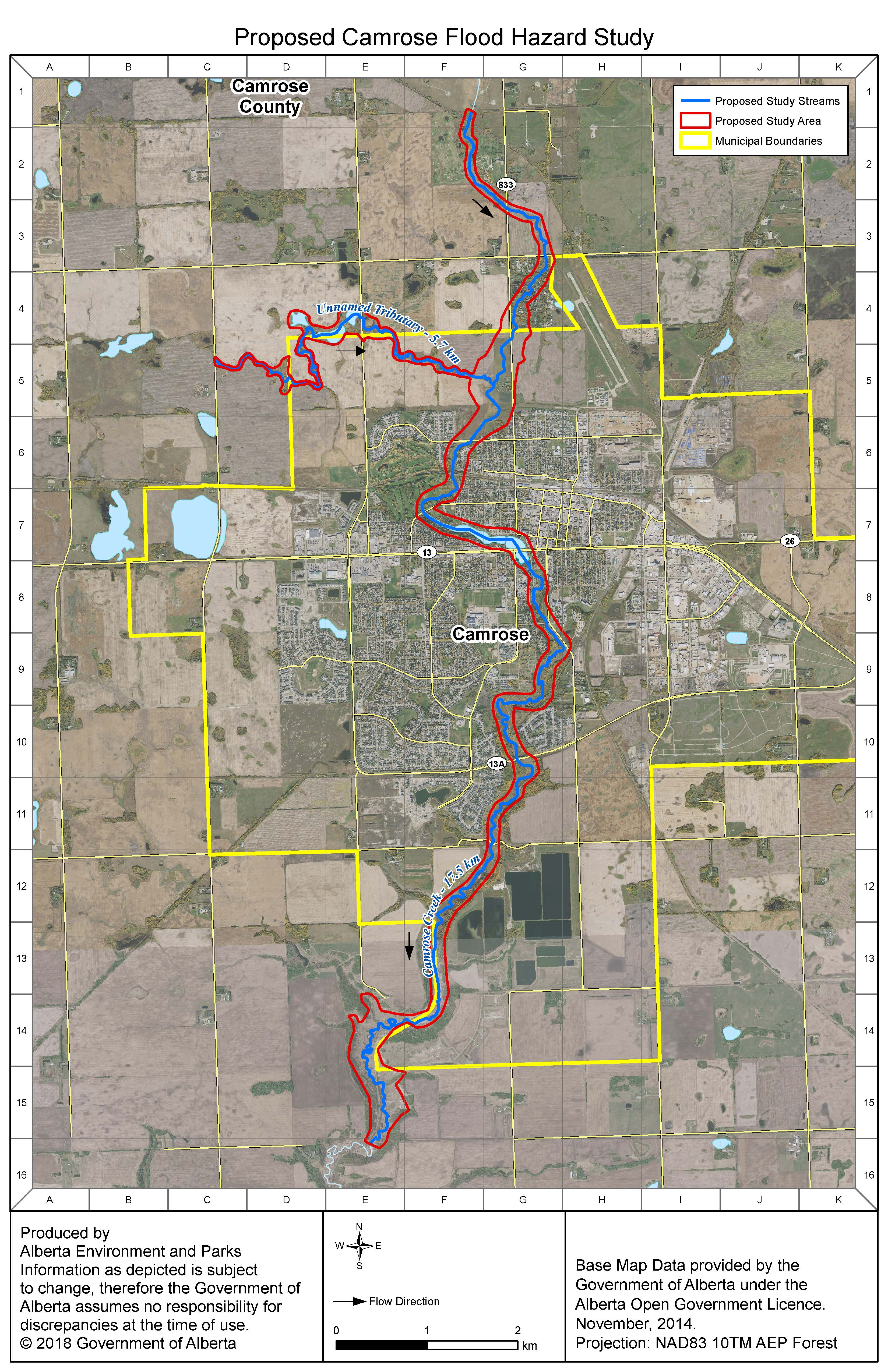 2019-06-21 Camrose Flood study map