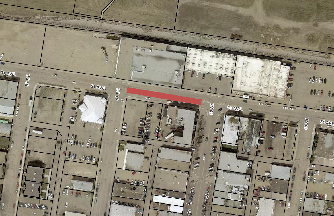 Road Closure - 51 Ave from 50 St to 51 St