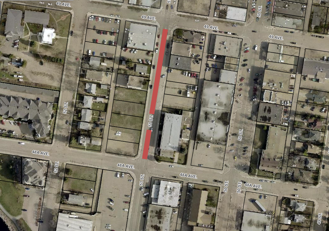 Road Closure - 51 Street from 48 A Avenue to 49 Avenue