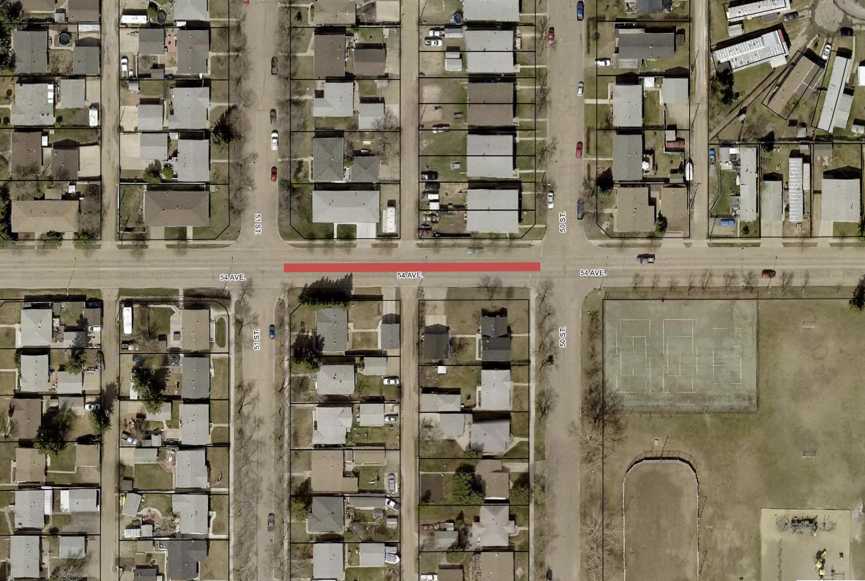 Road Closure - 54 Ave from 50 St to 51 St