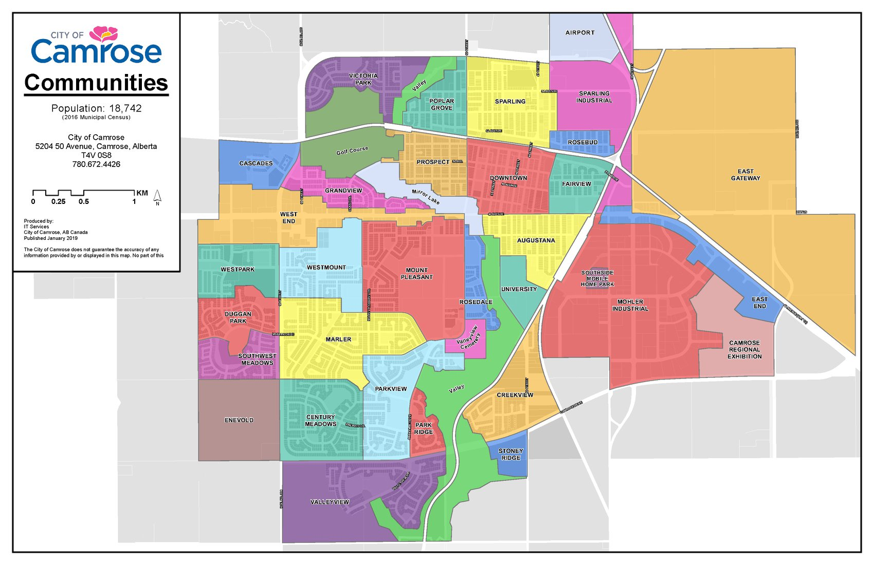 City Of Camrose Map
