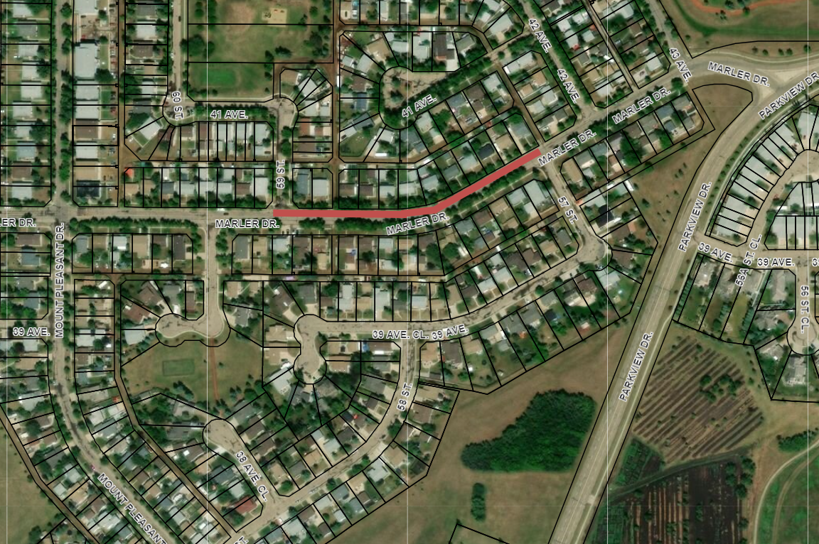 Road Closure - Marler Drive from 57 St to 59 St